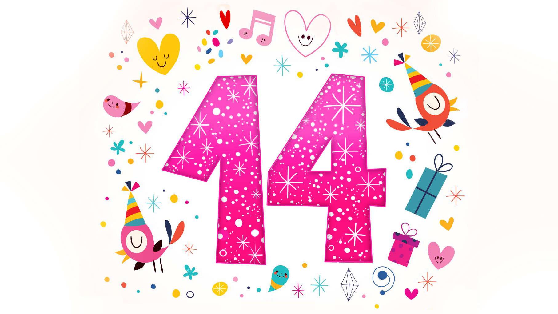 Поздравления с днем рождения девочки 14 в картинках