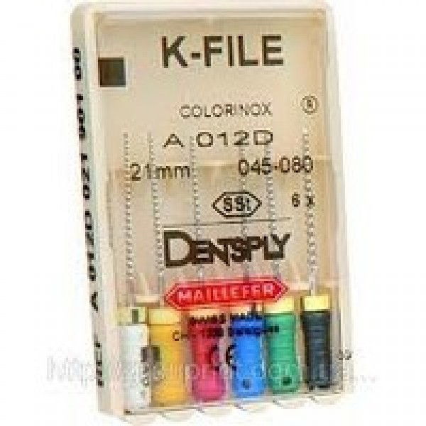K-File, Dentsply Maillefer (K-файлы) 25мм, 6 шт/уп NaviStom